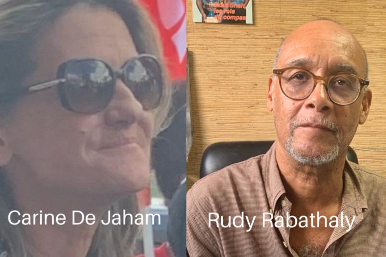 Carine De Jaham, rédactrice en chef du magasine Créola et Rudy Rabathaly, rédacteur en chef du journal FA. (c) Nouria Anseur.