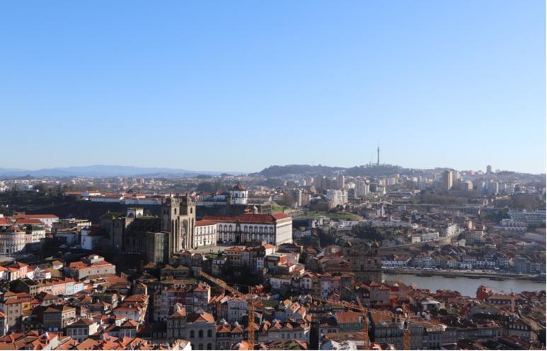 Vue des hauteurs de la ville depuis la Torre dos Clérigos. / © E.V.
