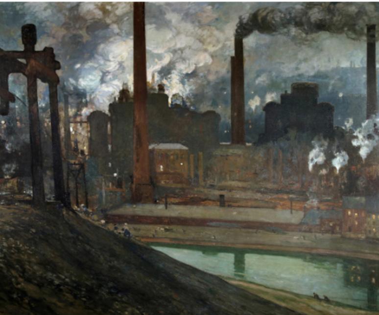 Les Hauts fourneaux de la Providence , 1904 Huile sur toile  Luxeuil-les-Bains, musée de la Tour des Échevins © ADAGP, Paris 2019
