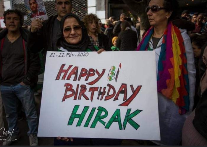 Aujourd'hui, c'est l'anniversaire du Hirak, 53 semaines de protestation. (c) capture d'écran Facebook.