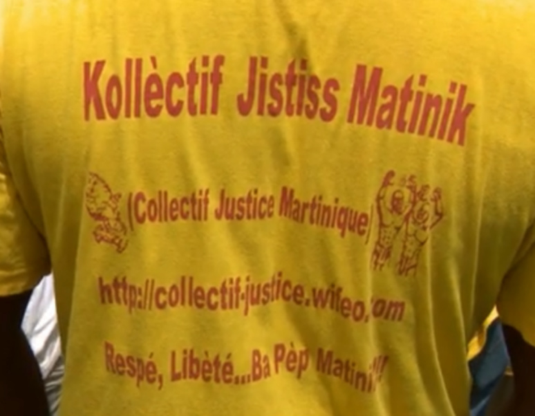 "L'association ""Kollèctif Jistiss Matinik"" exige le respect de ses droits fondamentaux.    capture d'écran Facebook."
