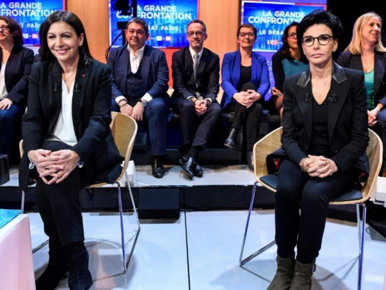 Anne Hidalgo (PS) et Rachida Dati (LR) en tête des sondages à Paris  - Capture Ecran LCI