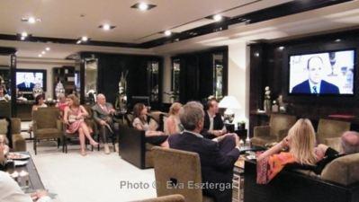 L'une des soirées du CREM, consacrée au Prince Albert II. Photo (c) Eva Esztergar