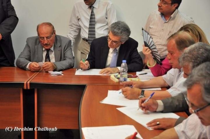 Lecture des noms. Photo (C) Ibrahim Chalhoub