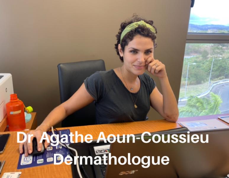 Le Dr Agathe Aoun-Coussieu, dermatologue à Fort de France, Martinique. (c) Nouria Anseur.