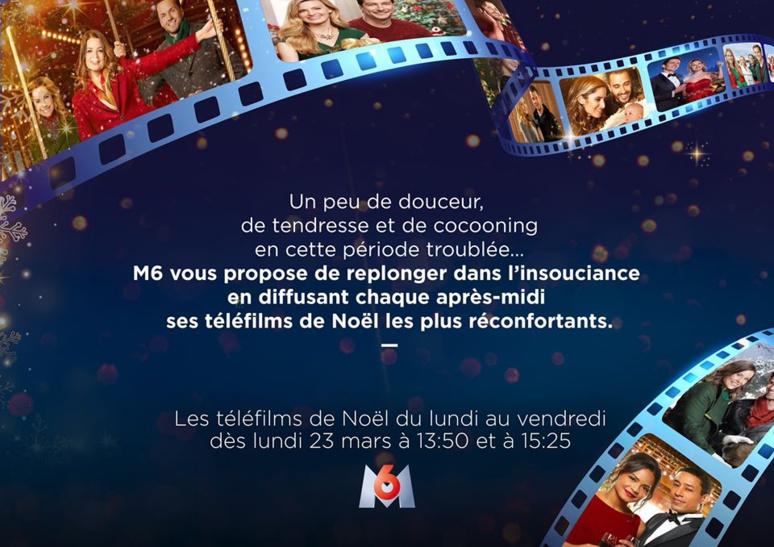 Le communiqué étonnant d'M6 pour annoncer la diffusion de téléfilms de Noël... en mars. (c) M6 sur twitter