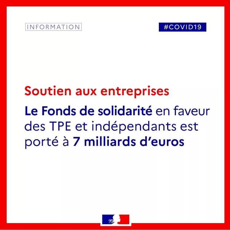 Bruno Le Maire l'a annoncé, le fonds de solidarité s'élèvera à 7 milliards d'euros © Photo de la page Facebook du gouvernement