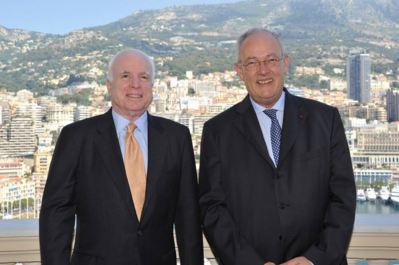 John Mc Cain et Michel Roger. Photo (c) CDP