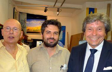 De gauche à droite: De Fombelle, Briasoulis, Beaudoux.