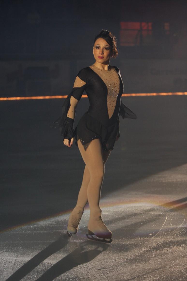 Sarah Abitbol sur glace. (c) Sarah Abitbol.