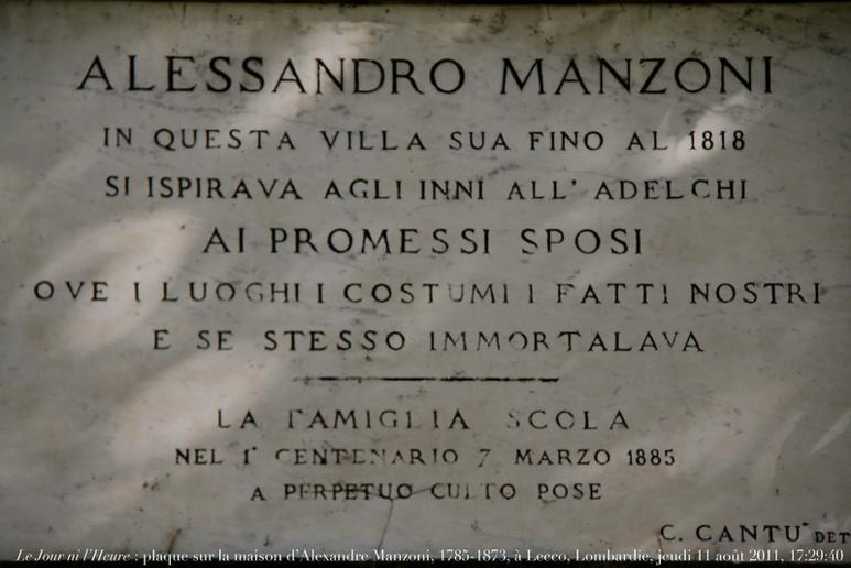 Plaque sur la maison d'Alessandro Manzoni. (c) Photo de Renaud Camus sur Foter.com / CC BY