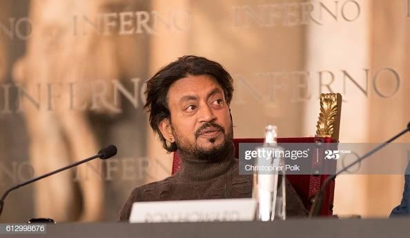 L'acteur Irfan Khan lors d'une conférence de presse présentant le film Inferno en octobre 2016. (c) Christopher Polk, Getty Images Entertainment