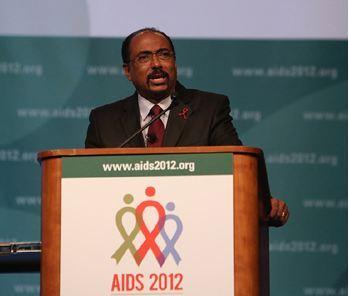 Michel Sidibé, lors de la cérémonie d'ouverture de la Conférence internationale sur le sida à Washington DC, le 22 juillet. Photo (c) Chris Kleponis