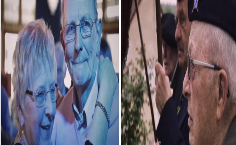 Comme ces deux scènes extraites du film et qui sont totalement opposées (entre joie et tristesse) tout au long du documentaire on peux découvrir à quel point la France est fractionnée aussi bien politiquement que socialement. (c) Capture d'écran Demainlefeu.fr