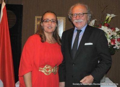 Isabelle Picco et M. Giampaolo Pioli Président de l'UNCA. Photo courtoisie