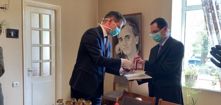 L'Ambassadeur de France en Arménie Jonathan Lacôte et le Conseiller de coopération et d'action culturelle Alex Bortolan (c) Hasmik Arakelyan
