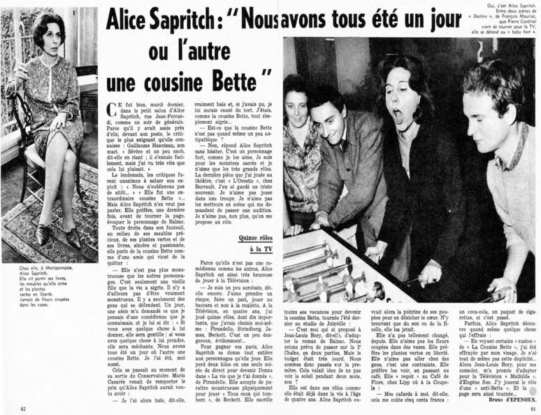 Alice Sapritch alias la cousine Bette (C) php88.free