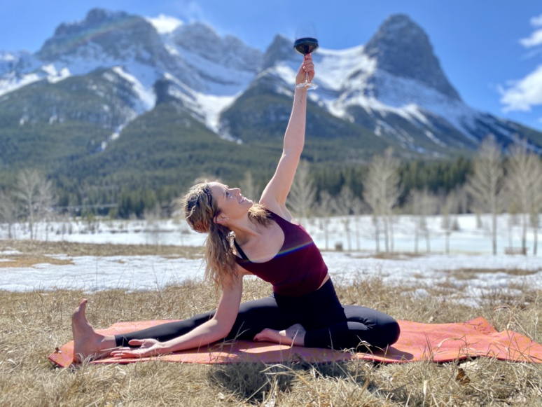 Discover Vino Yoga with Kirstie Nelson