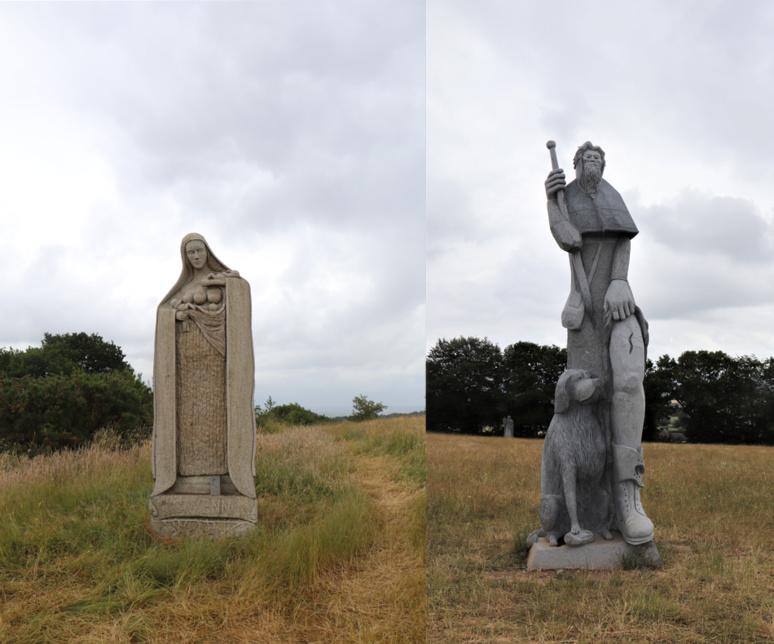 Sainte Gwenn à gauche, saint Roch à droite mentionnés dans l'article. / © E.V.