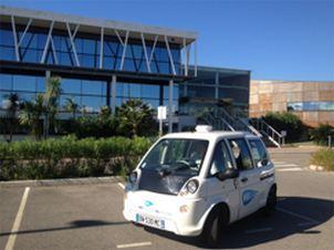Véhicules électriques avec balises environnementales sur la communauté Nice Côte d'Azur