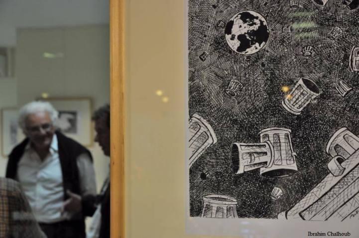 Le peintre et sa création! Photo (C) Ibrahim Chalhoub