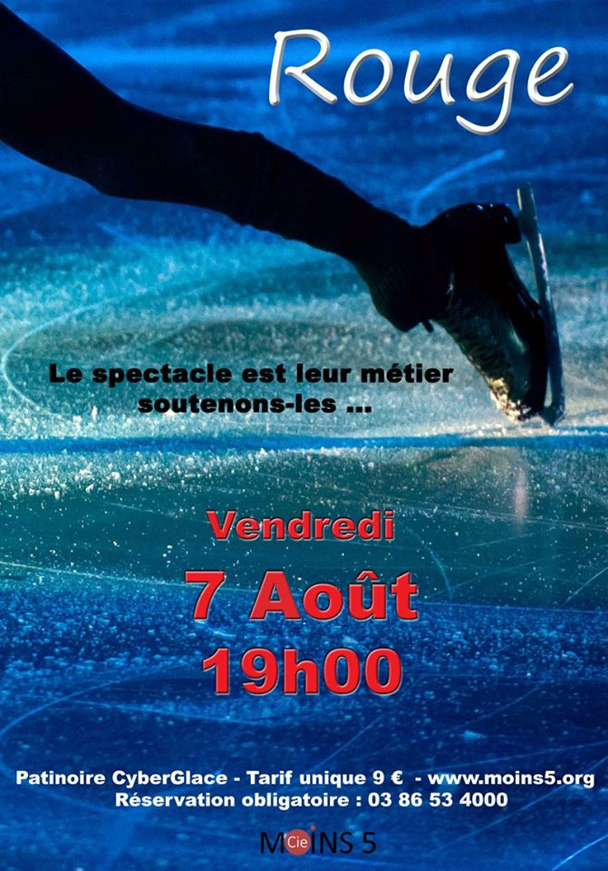 Affiche du spectacle Rouge. (c) Thierry Voeggeli.