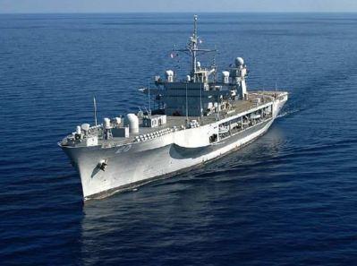 Le Mount Whitney, navire-amiral de la 6e flotte des Etats-Unis. Photo (c) DR