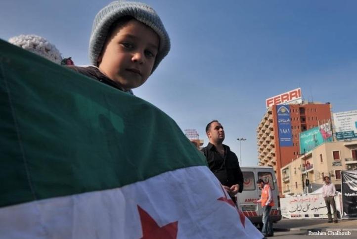 Petit manifestant! Photo (C) Ibrahim Chalhoub