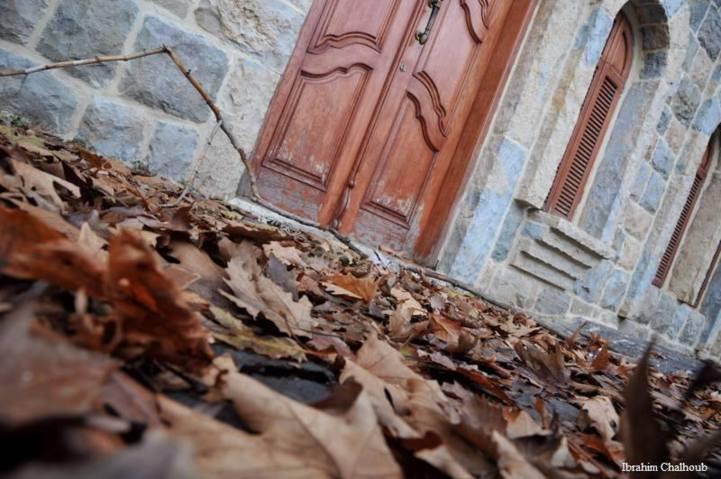 Feuilles mortes à la porte! Photo (C) Ibrahim Chalhoub