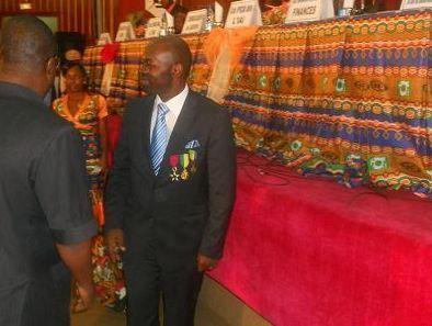 Armand Claude Abanda, Représentant Résident IAI Cameroun l'un des heureux récipiendaires du jour (Photo IAI)