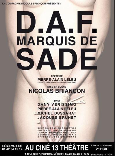Sade au Théâtre Ciné13 à partir du 9 janvier 2013