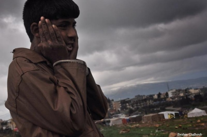 Quittant sa tente! Photo (C) Ibrahim Chalhoub