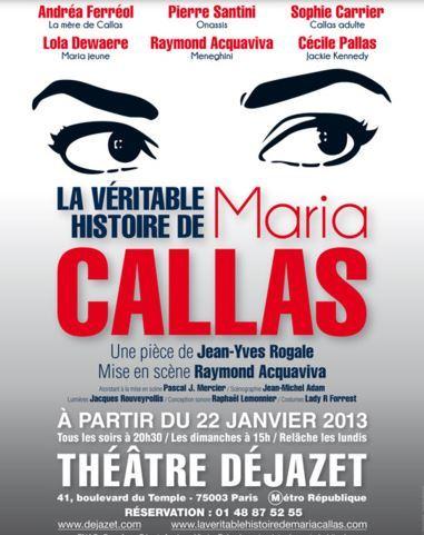 La véritable histoire de Maria Callas enchante son public au Théâtre Déjazet
