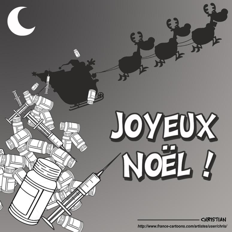 Des vaccins en guise de cadeaux ! (C) Christian Larivière