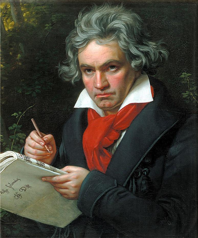 Ce mois de décembre clôt une année consacrée aux commémorations virtuelles liées aux 250 ans du grand musicien (c) portrait de Joseph Karl Stieler de 1820