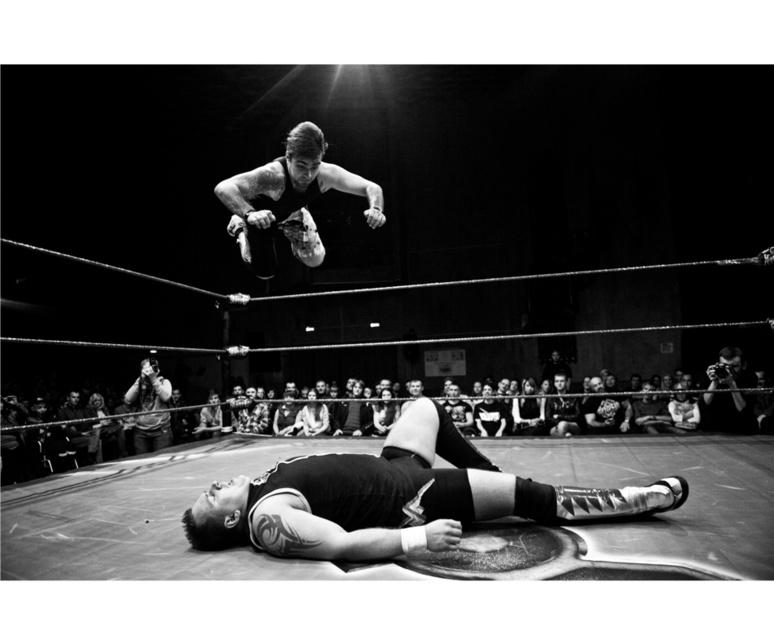 "Extrait de la série ""Underground wrestling in Moscow""/ © Pavel Volkov"