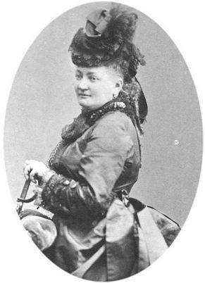 Photo de Marie Blanc aux Archives de Bad Homburg. Illustration du domaine public.