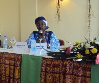 Intervention d'Angeline NDO PCA du RAFM. Photo (c) ETJ