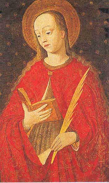 Cette jeune sainte avait été martyrisée en Corse sur ordre du préfet Barbarus, vers l'an 304 (c) DR