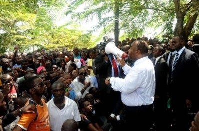 Le Président Ali Bongo Ondimba s'adressant aux étudiants le 20 mars dernier. Photo (c) JPN
