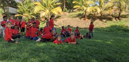 """""""Les enfants s'adaptent facilement à leur environnement et sont ravis de retrouver leur grand espace."""" (c) École Beraca."""