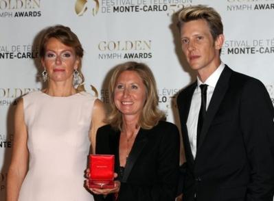 Caroline Diemunsch-Repin, présidente du jury AMADE, Yasmina Farber, réalisatrice et Gabriel Mann, acteur américain. Photo © Thierry Carpico
