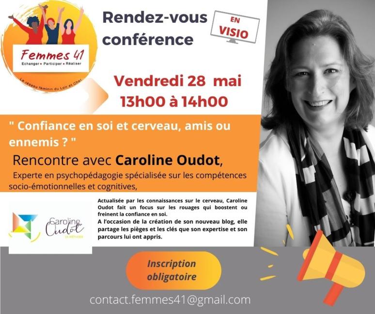 Conférence avec Caroline Oudot. (c) Femmes 41.