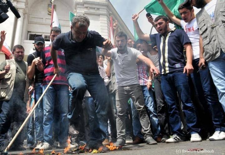 Feu des opprimés! Photo (C) Ibrahim Chalhoub