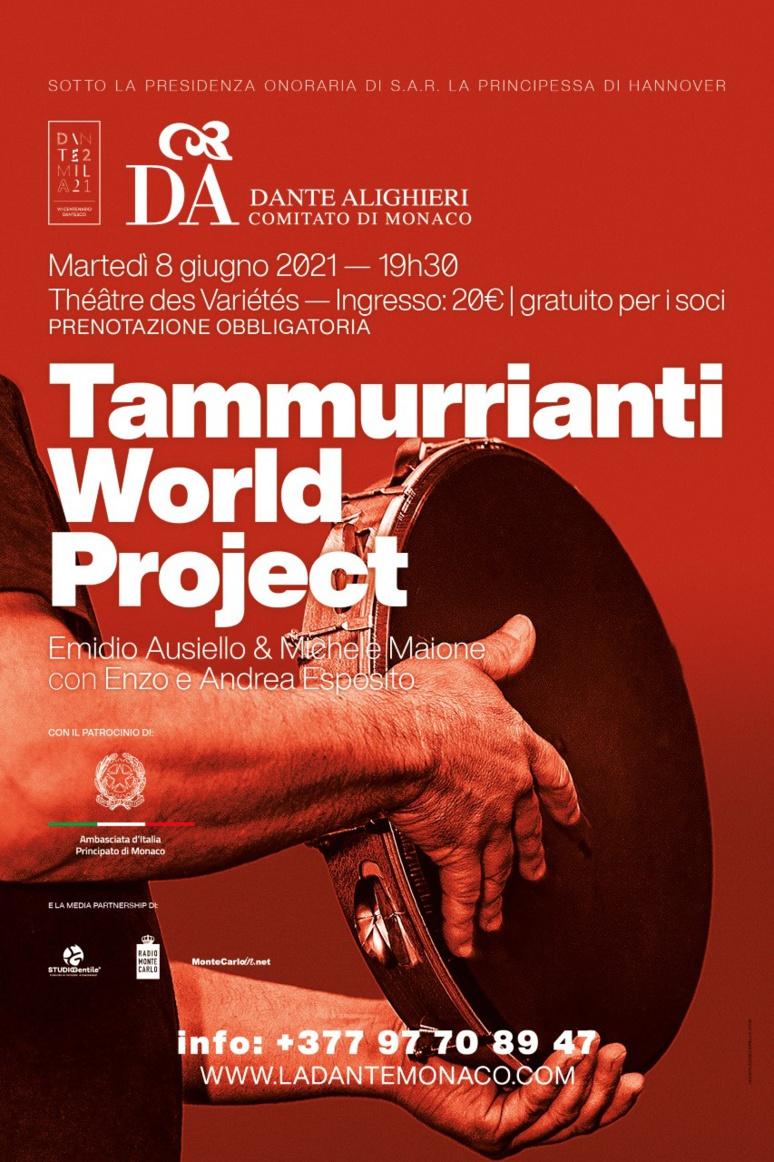 """Affiche de l'évènement """"Tammurrianti World Project"""""""