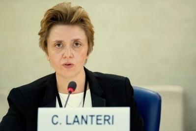 S.E. Mlle Carole Lanteri, Représentant permanent près l'Office des Nations Unies à Genève, Ambassadeur Extraordinaire et Plénipotentiaire. Photo (c) DRE