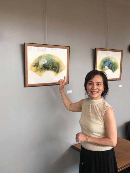 Xiao Qing expose à Selles-sur-Cher