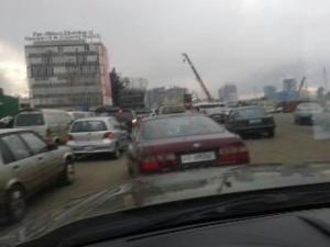 Embouteillage à la place Meskel