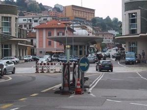 Passage de frontière entre l'Italie et la Suisse. Photo (c) Berger