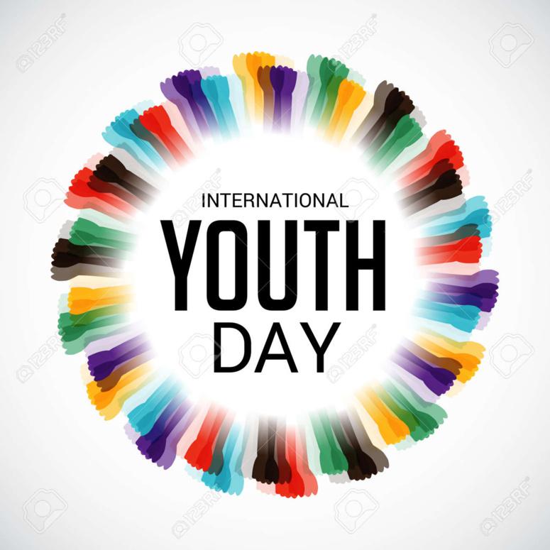 International Youth day. La journée international de la jeunesse. (c) shinystarfish via 123RF.com